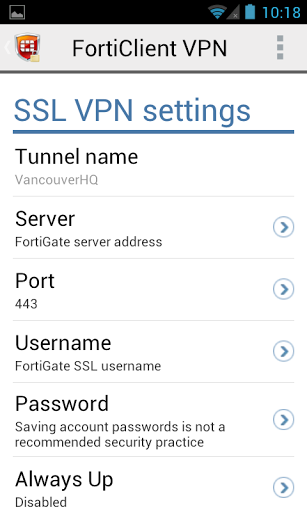 FortiClient VPN for vivo Y55 - free download APK file for Y55