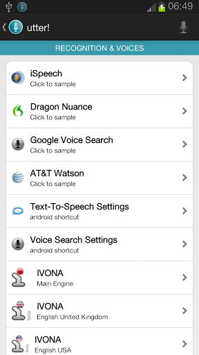Free download utter! Voice Commands BETA! APK for Android