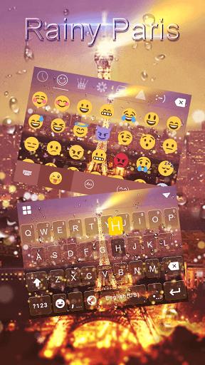 Rainy Paris Emoji iKeyboard