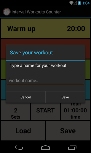 Interval Workout Counter