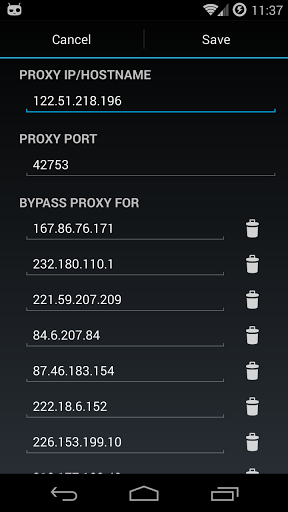 Free download Proxy Settings APK for Android