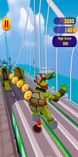 Super Ninja Runner Turtles Adventure
