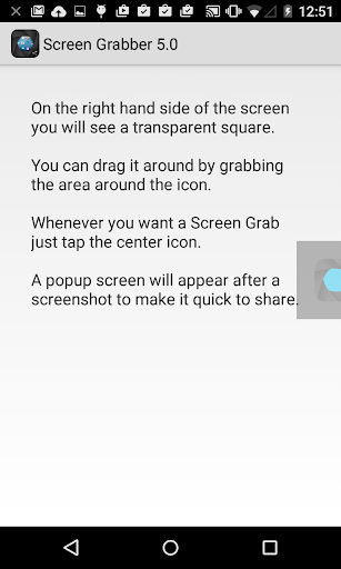 Screenshot - Screen Grabber for iVoomi Me5 - free download APK file