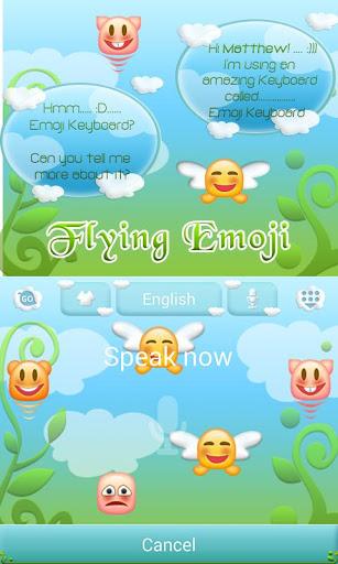 Flying Emoji GO Keyboard Theme