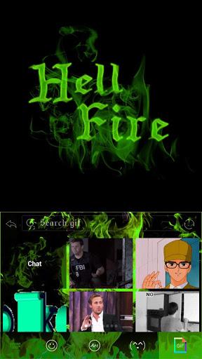 Hell Fire Emoji iKeyboard