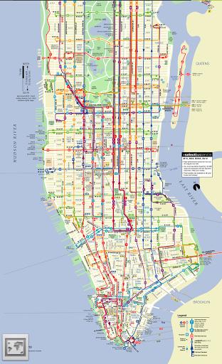 New York Subway & Bus maps