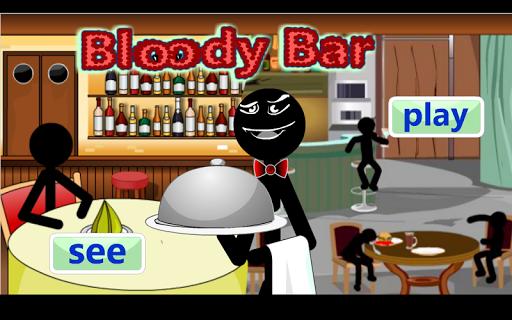 Stickman Bloody Bar