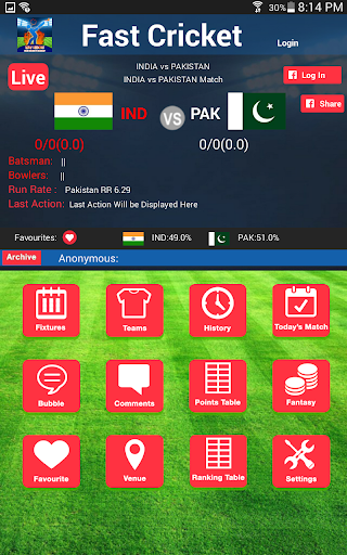 Fast Cricket Live Scores