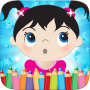 icon Little Girls Coloring World Drawing Story Kids Game