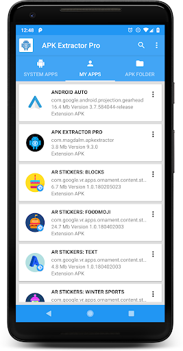 Free download APK EXTRACTOR PRO APK for Android