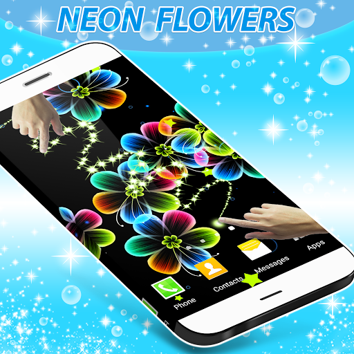 Neon Flowers Live Wallpaper Free Download For Vivo Y55s Free