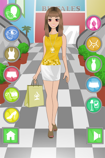 Dress up games and shopping