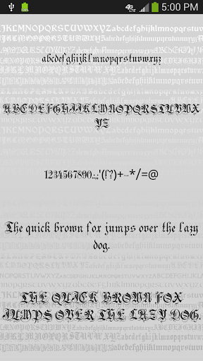 Gothic Fonts for FlipFont for Samsung Galaxy J7 Prime - free