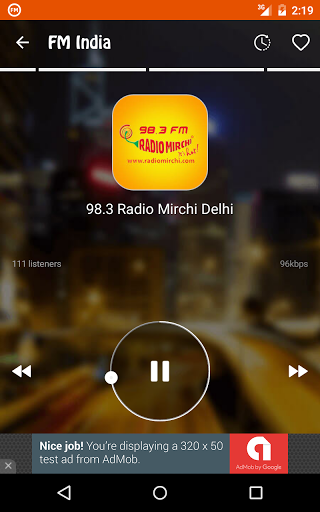 FM Radio India - Live Stations for OnePlus 5 - free download