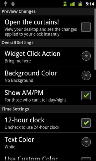 Digital Clock Widget for Xiaomi Redmi Note 4 - free download