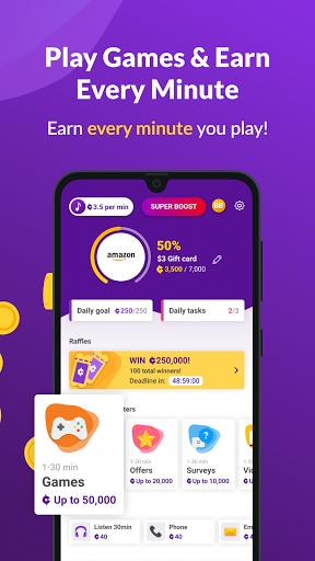 Earn Cash & Money Rewards - CURRENT Music Screen