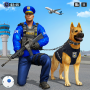 icon Police Dog Airport Crime Chase