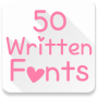 icon Written Fonts 50