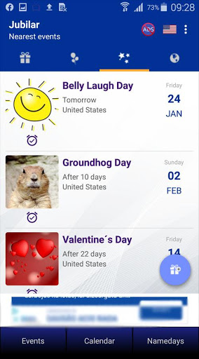 Birthdays and important dates