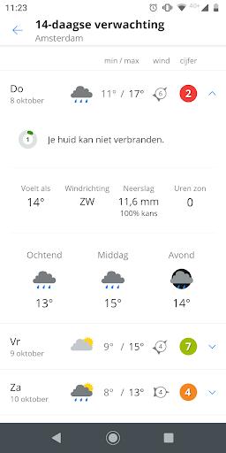 Weeronline: weather and rain radar