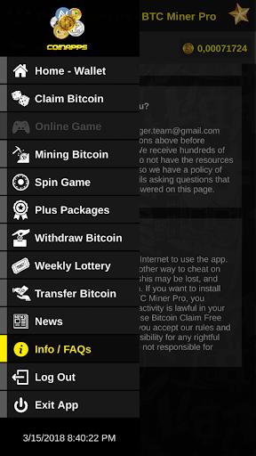 Bitcoin Claim Free - BTC Miner Pro Earn