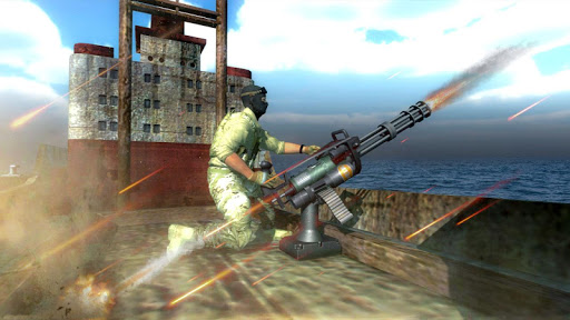 Navy Gunner Defense Warrior 3D