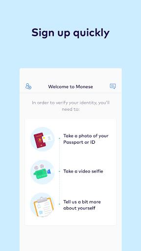 Monese - Mobile Money Account & Finance Management