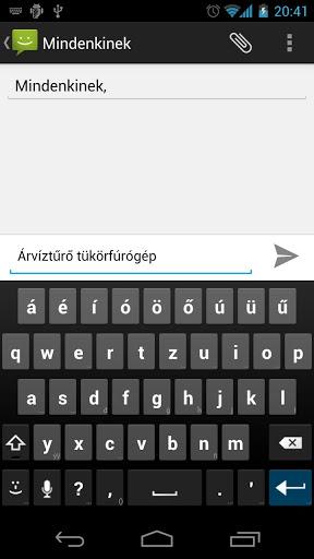 Hungarian AnySoftKeyboard