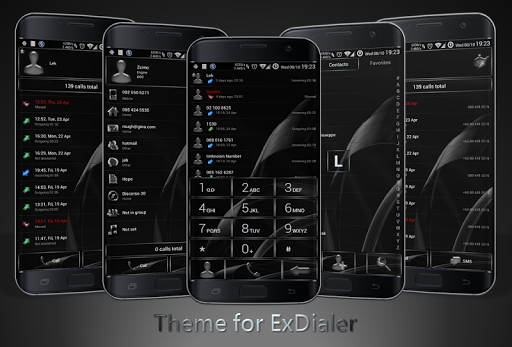 Dialer MetalGate Black theme for Oppo A37 - free download APK file