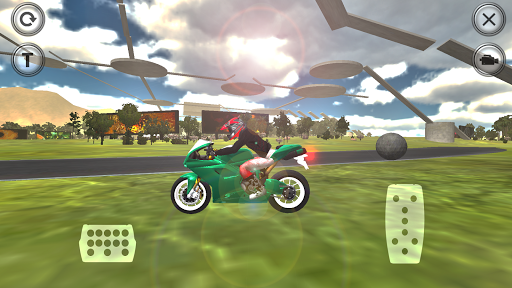 Motorcycle Trial Driving