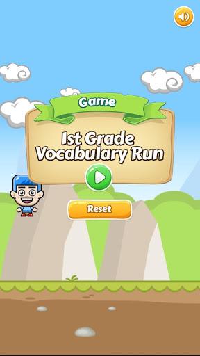 1st Grade Vocabulary Run