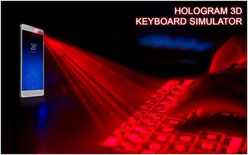 Hologram 3D Keyboard Prank