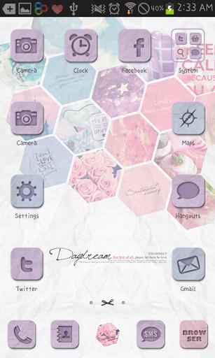 Daydream go launcher theme