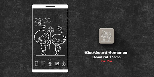Cute Love Black & White Theme for vivo Y81 - free download APK file