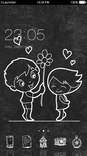 Cute Love Black White Theme For Oppo A37 Free Download Apk File For A37
