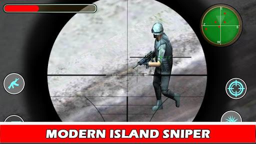 Island Sniper War Fire Defense