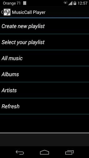 Music Call Player