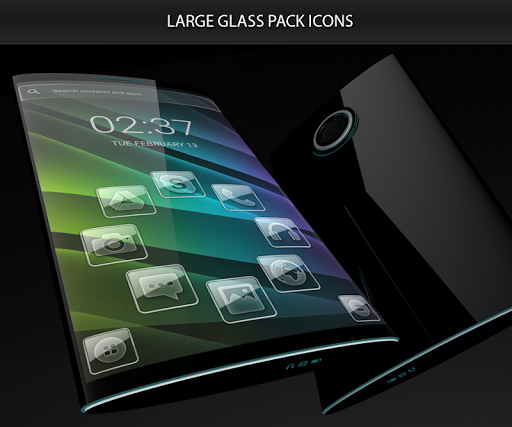 Glass theme for Smart Launcher