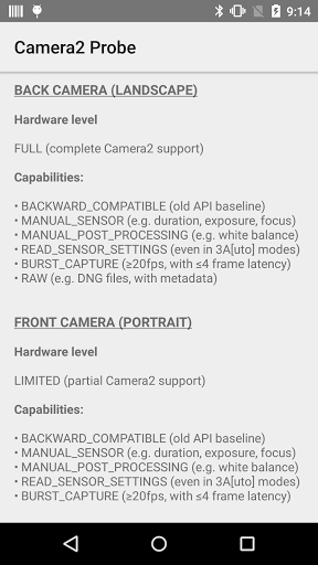Free download Camera2 Probe for Android 5 0+ APK for Android