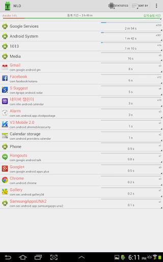 Wakelock Detector [Root] for LG G6 - free download APK file