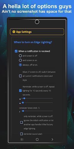 Always On Edge - Edge Lighting ?