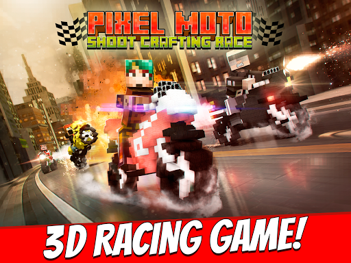 Pixel Moto Shoot Crafting Race
