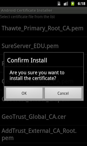 Certificate Installer for Samsung Galaxy J5 Pro - free download APK