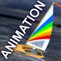 icon Sailing simulation ANIMATION
