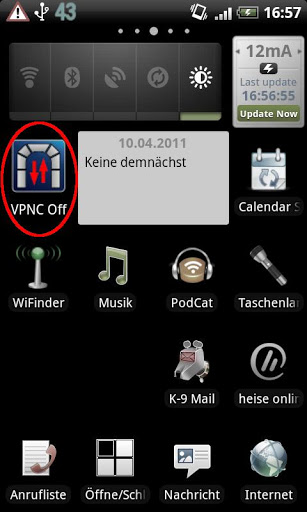 VPNC Widget
