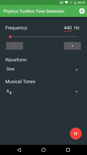 Physics Toolbox Tone Generator