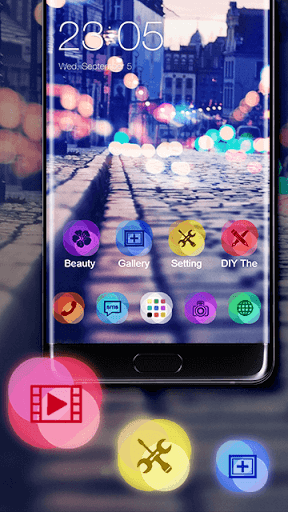 Neon Night Theme for vivo Y83 - free download APK file for Y83