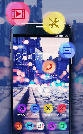 Neon Night Theme for Lava V5 - free download APK file for V5