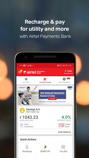 My Airtel-Recharge, Bill, Bank for Samsung Galaxy S Duos