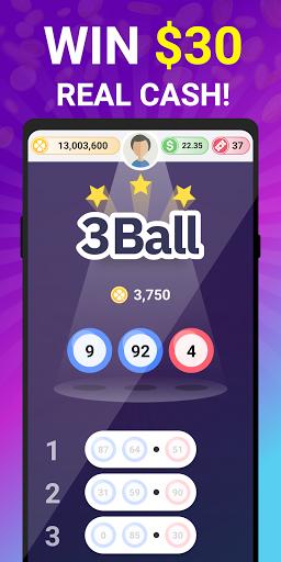 3 Ball - Win Real Money Lotto & Scratch Offs ??